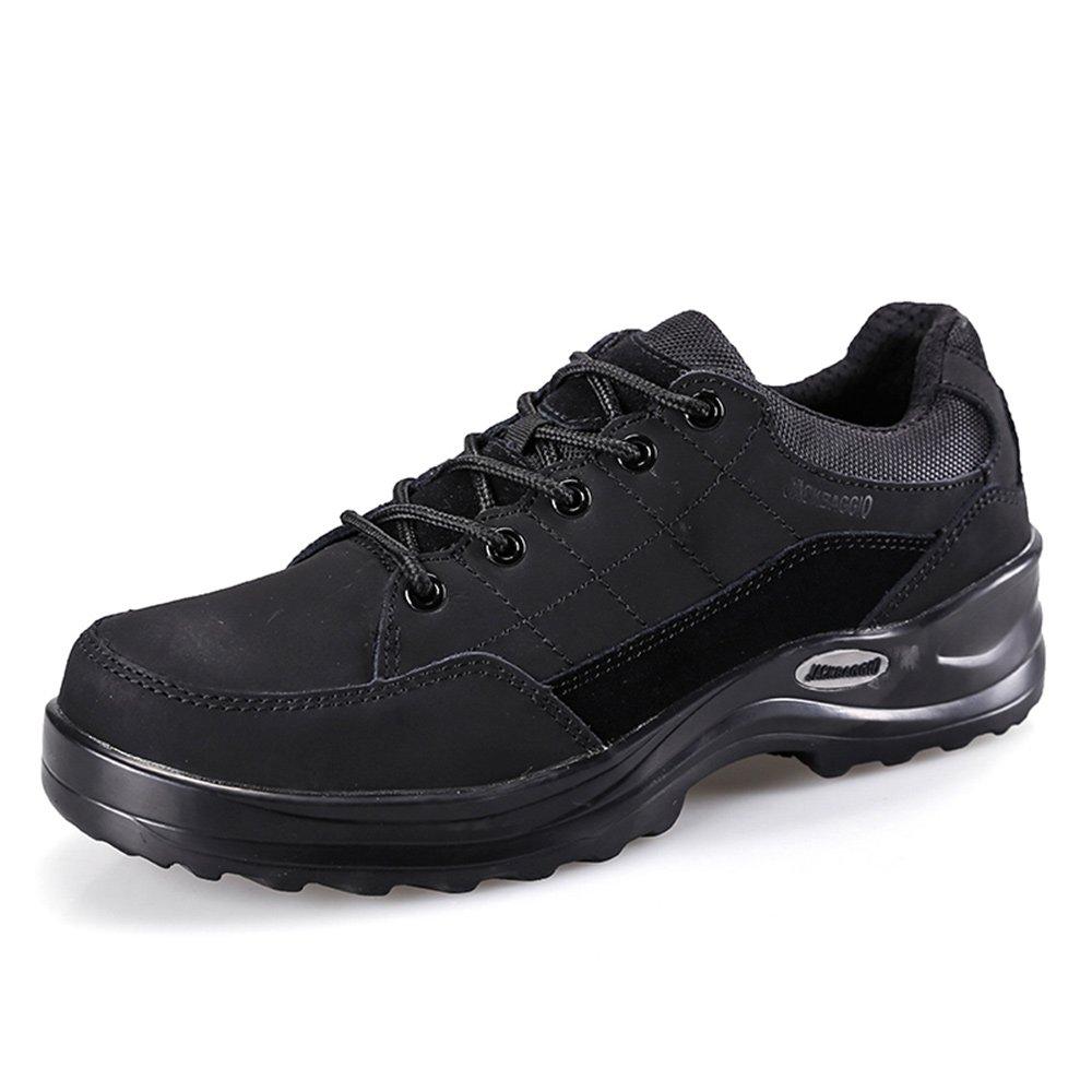 JACKBAGGIO Men's Slip Resistant Steel-Toe Relaxed-Fit Work Shoe (9.5) by JACKBAGGIO