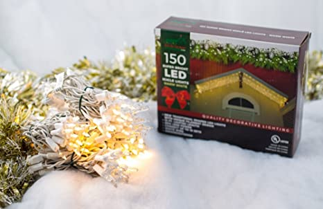 stay off the roof super bright led christmas lights set icicle cut 150