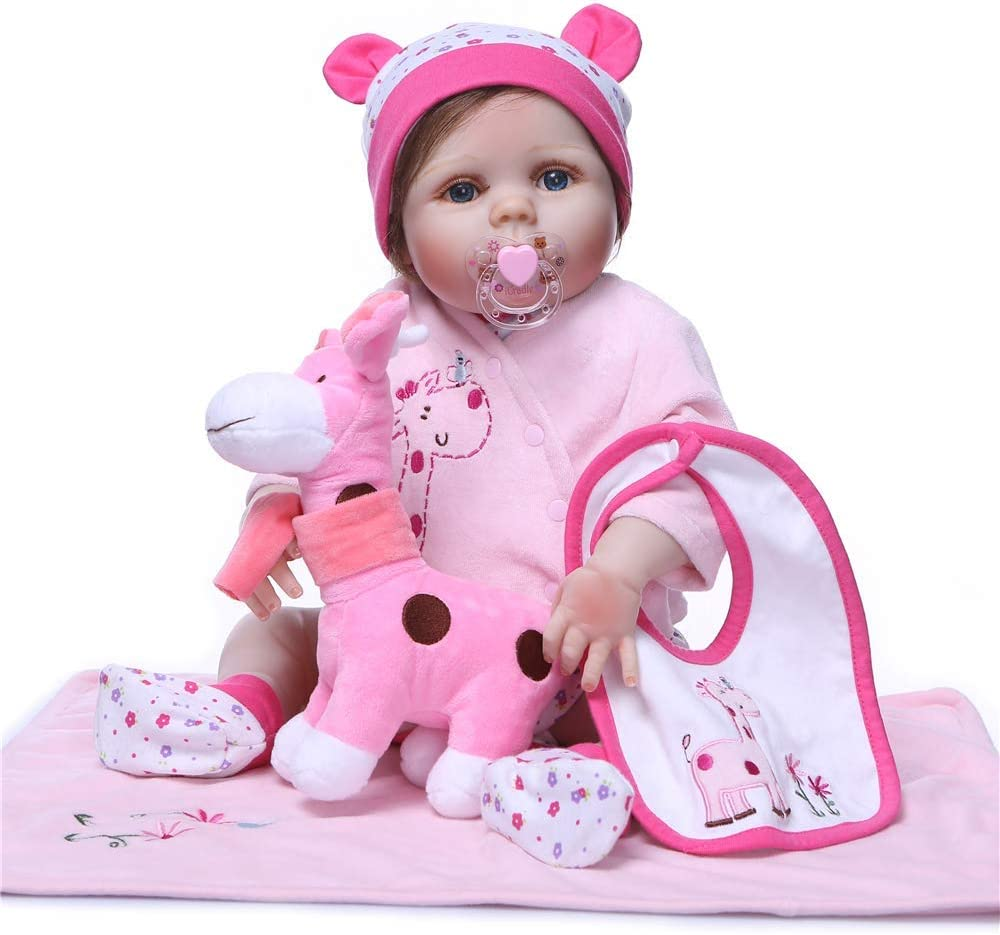 Reborn Baby Girl Doll Clothes Accessories Toy Bib Towel Pink Outfit for 20-23 Reborn Doll Baby Girl Clothing Outfit Sets