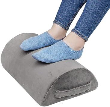 Amazon Com Ergonomic Foot Rest Cushion Under Desk With High Rebound Ergonomic Foam Non Slip Half Cylinder Footstool Footrest Ottoman For Home Office Desk Airplane Travel Grey Office Products