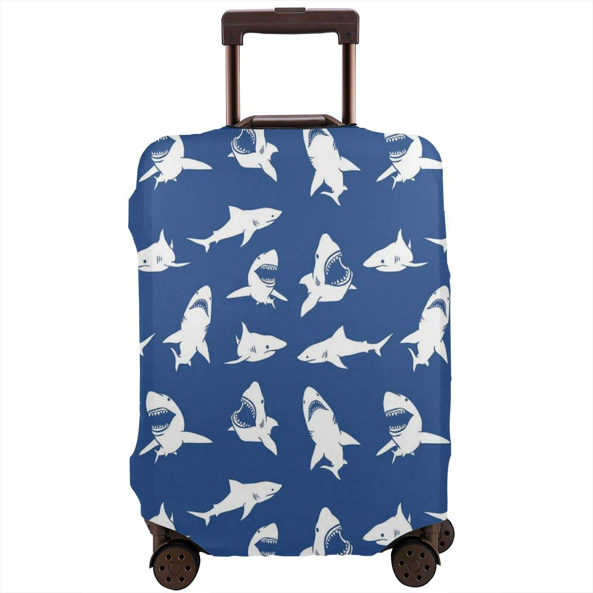 Luggage Cover Shark Danger Humor Nautical Design Protective Travel Trunk Case Elastic Luggage Suitcase Protector Cover