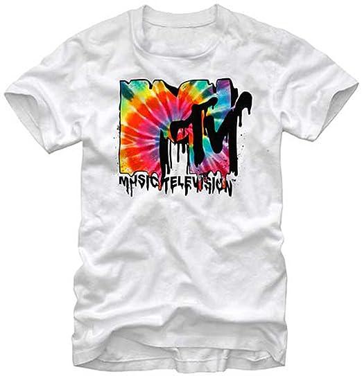 e98eea210 MTV Melted Tie Dye Logo T-Shirt X-Large | Amazon.com