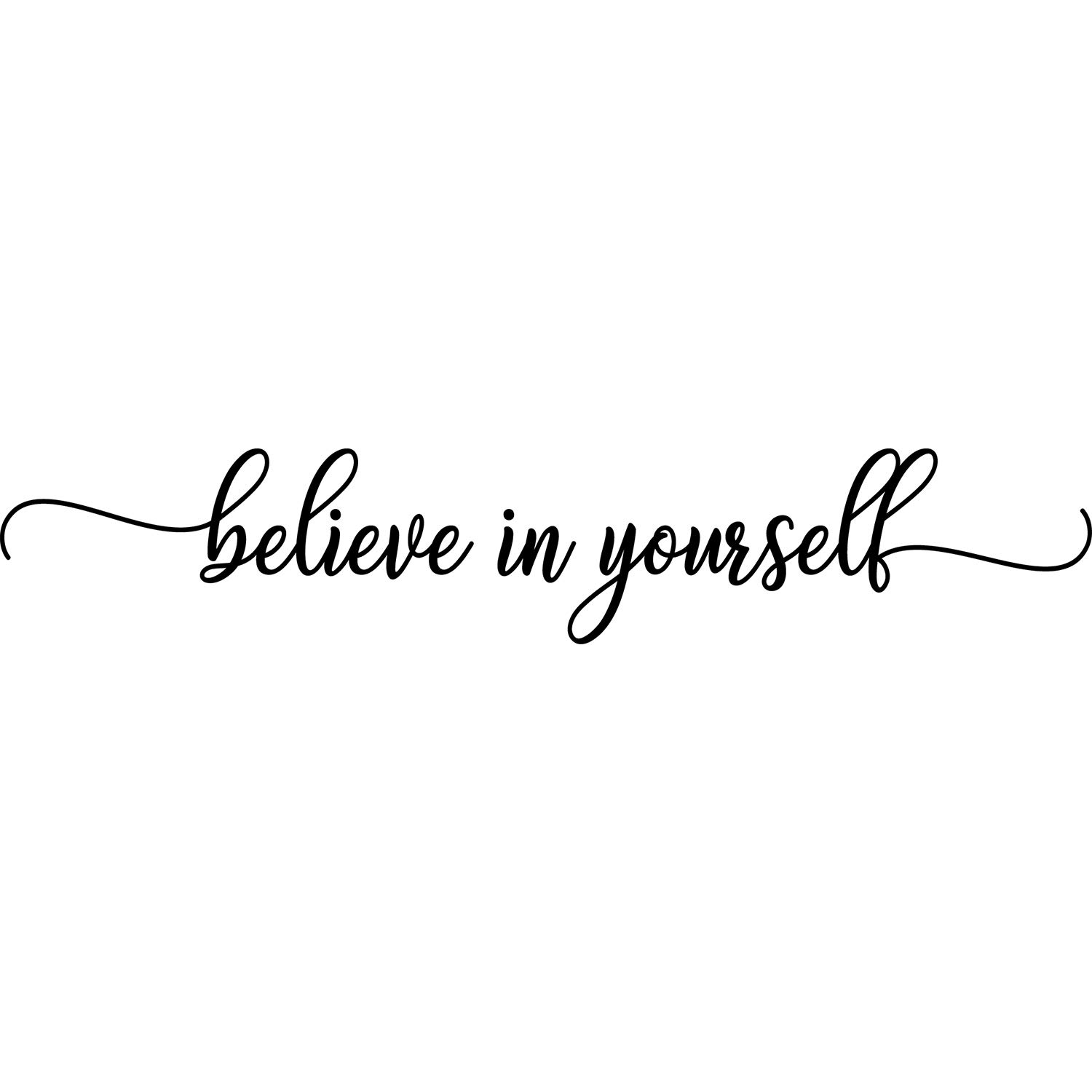 My Vinyl Story - Believe in Yourself - Wall Decals for Bedroom Motivational Decal Quote Religious Words and Saying Sticker Sign Family Decor Removable Vinyl for Living Room Home 36x7 Inches