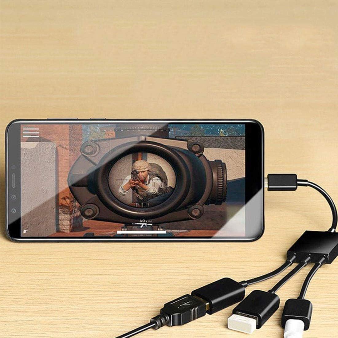 Color : Black 3 x USB 2.0 Female to USB 2.0 Male HUB Adapter Durable Black
