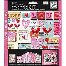 me & my BIG ideas 8-Inch x 8-Inch Scrapbook Page Kit, Ellen Love