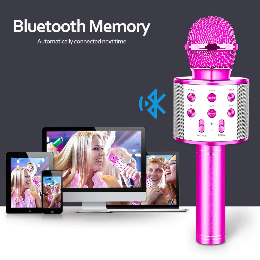 HahaGift Toys Birthday Gifts for 3 4 5 6 7 8 9 Year Old Girls, Bluetooth Karaoke Microphone for Kids Toys for 3-14 Year Old Girls Boys Purple by HahaGift (Image #5)