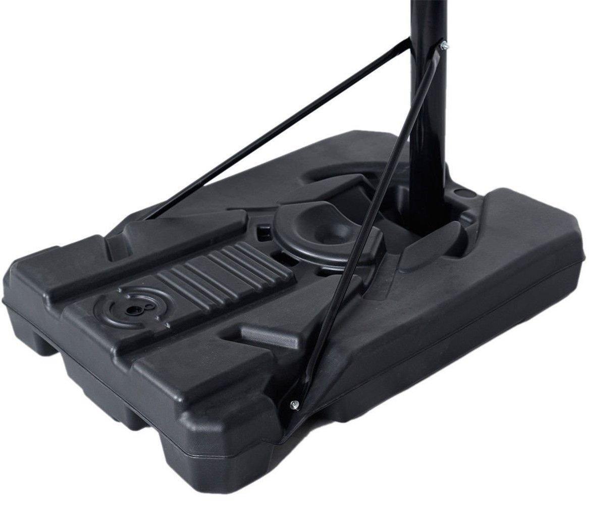 KLB Sport Pro Court Height Adjustable Portable Basketball Hoop System w/Wheels, 43 Inch Backboard (Black Coated) by KLB Sport (Image #6)
