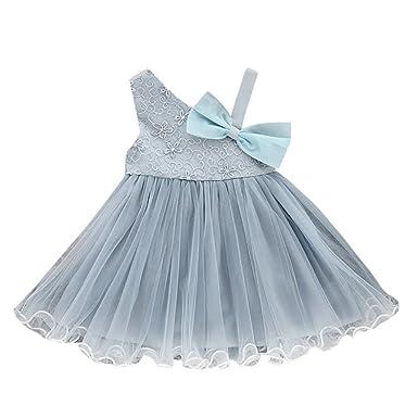 Vestido De Princesa, YpingLonk Vestido Brillantes para Niña Malla ...
