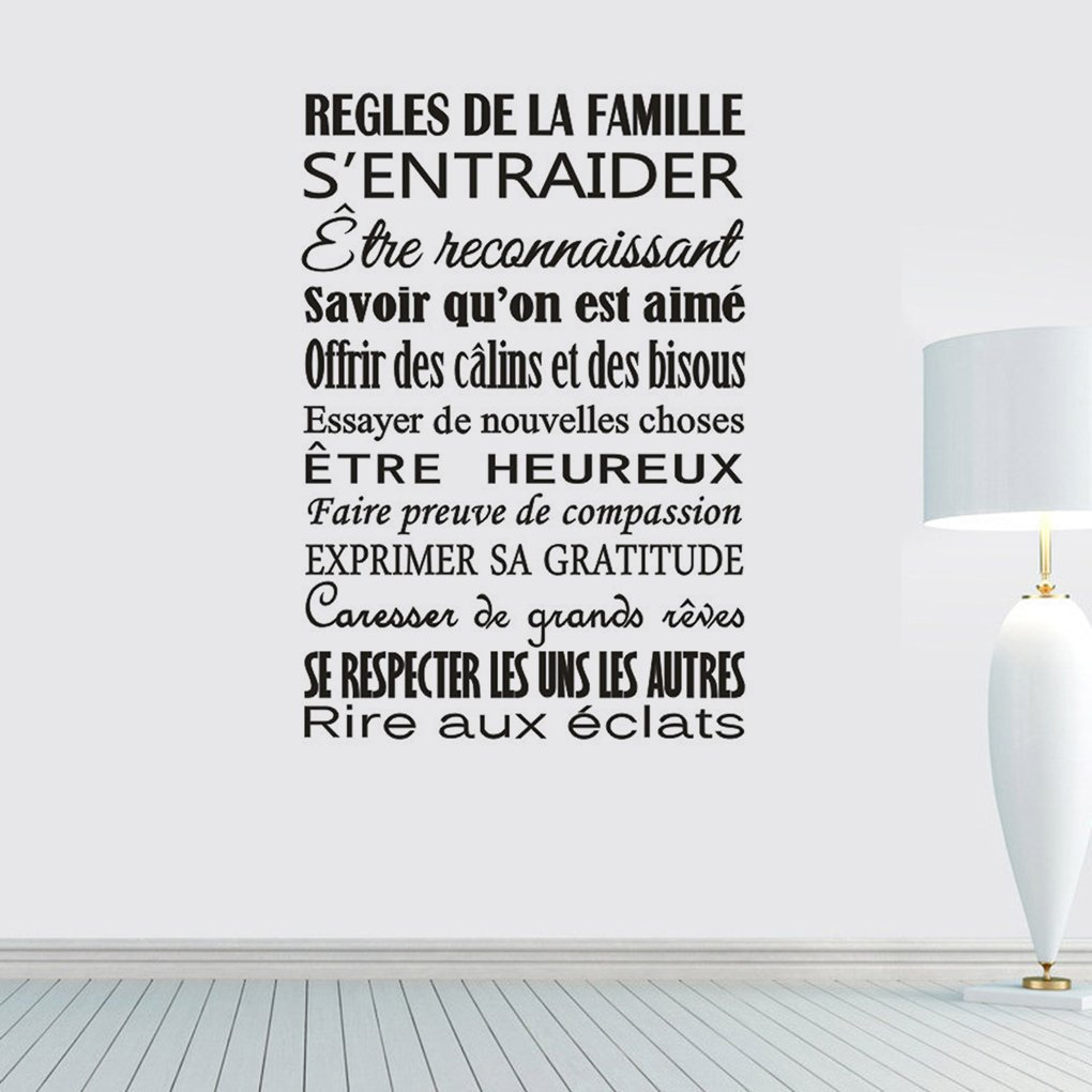 Providethebest Regles De Spanish Motto Wall Stickers Bedroom Living