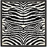 Safavieh Lyndhurst Collection LNH226A White and Black Square Area Rug (8′ Square)