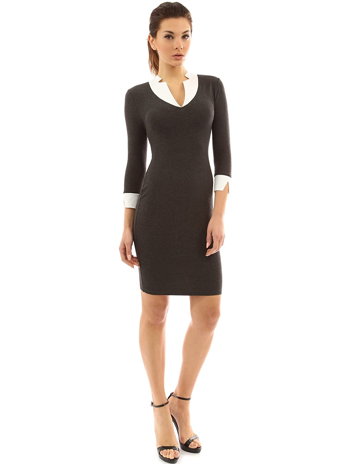 PattyBoutik Women's 2 in 1 Style Inset Stretch Dress
