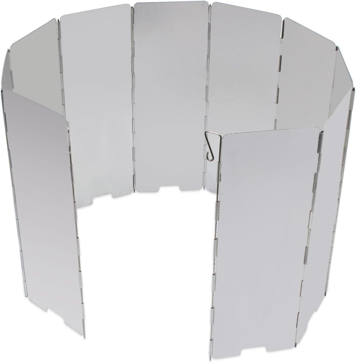 KEESIN al Aire Libre Camping Estufa Parabrisas 10 Platos Plegable Cocina de Aluminio Parabrisas para Picnic