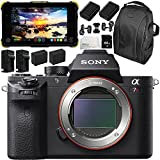 Sony Alpha a7R II Mirrorless Digital Camera with Atomos Shogun Flame 7 4K HDMI/SDI Recording Monitor 11PC Accessory Bundle – Includes Deluxe Backpack + MORE