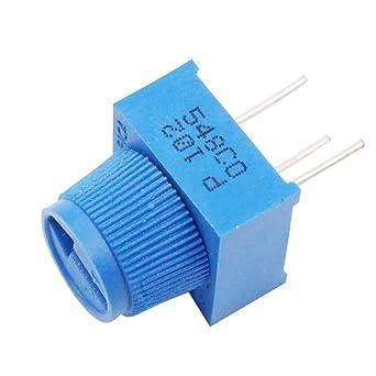 helloyee 1 K Ohm potenciómetro para placa de circuitos con pomo para Arduino (Pack de