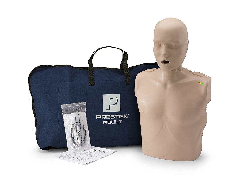 PRESTAN PP-AM-100M-MS Professional Adult CPR-AED Training Manikin with CPR Monitor, Medium Skin PREPPAM100MMS