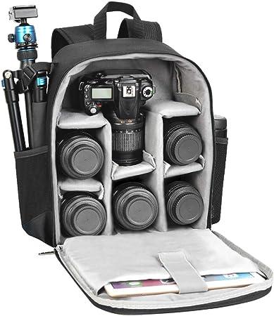 Oferta amazon: CADeN Mochila Cámara Réflex Professional para DSLR/SLR Cámara sin Espejo a Prueba de Agua, Compatible con Sony Canon Nikon Accesorios para cámara y trípode de Lentes