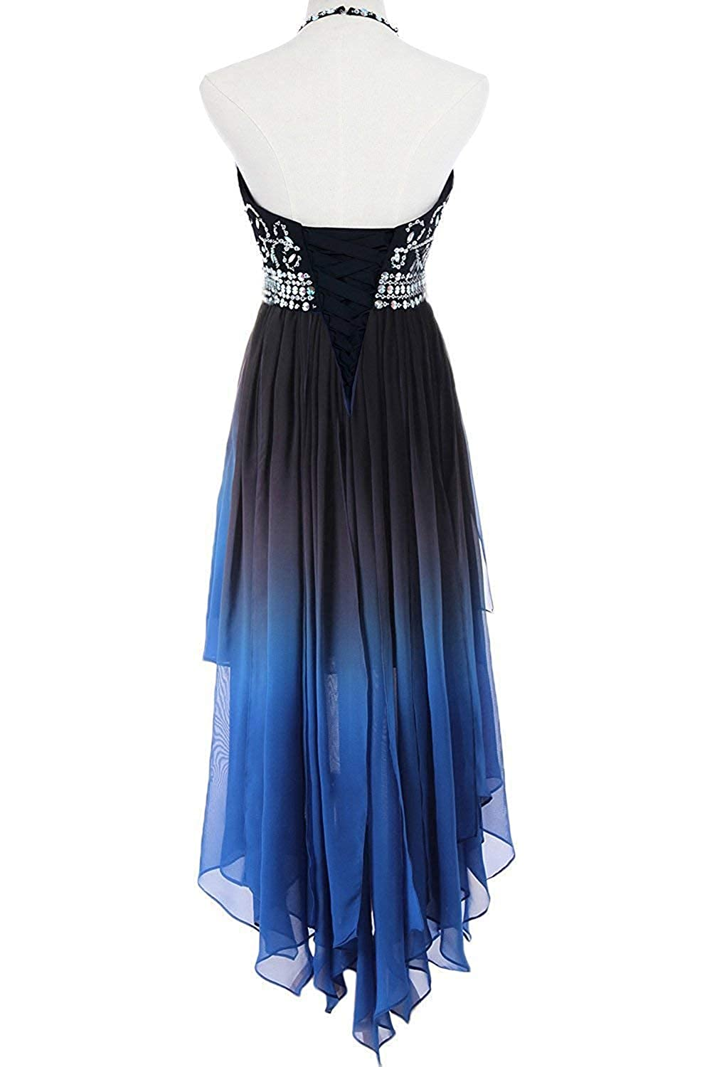 54db5bd74f3 FTBY Women s Ombre Homecoming Dresses Short Chiffon Prom Gown Gradient  Formal Beaded Cocktail Dress at Amazon Women s Clothing store