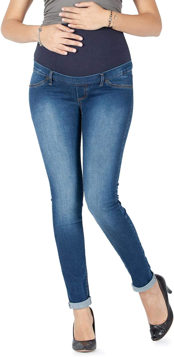 Over The Bump Jean Made in Italy Milano Basic Maternity Jeggings Slim Fit Power Stretch Fabric