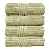 BC BARE COTTON Luxury Hotel & Spa Towel Turkish Cotton Bath Towels - Driftwood - Striped - Set of 4