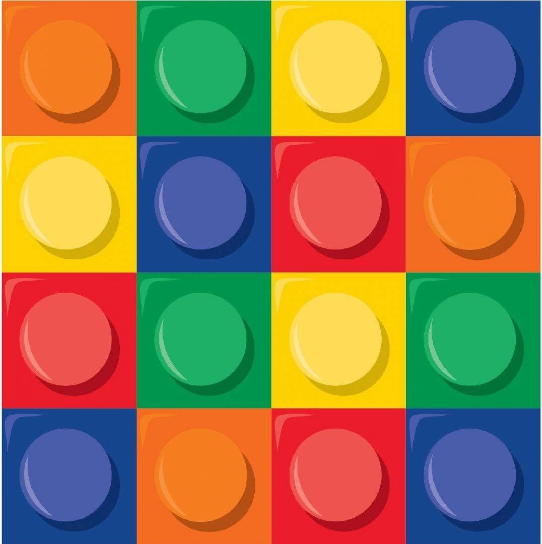 Pack of 1 multicolore Lot de 16 serviettes en papier Building Block Party