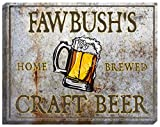 """FAWBUSH'S Craft Beer Stretched Canvas Sign - 16"""" x 20"""" offers"""