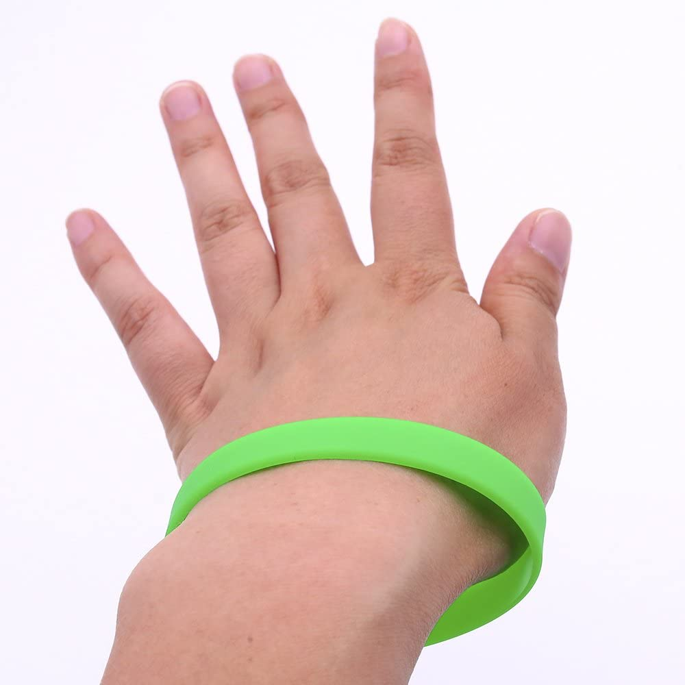 Rubber Bracelets Wristbands Bracelets Blank Rubber Bracelets Party Favors Sports Accessories Green 12 PCS Johouse Green Silicone Wristband