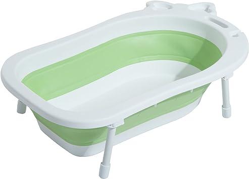 HOMCOM Babywanne Baby Badewanne mit Stützbeinen zusammenklappbar 89 cm 3 Farben