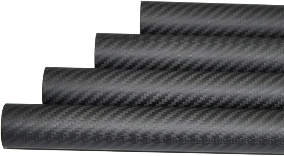 Abester 33mm Carbon Fiber Tube ID 30mm x OD 33mm x 1000mm 3K Matt Surface 1 Piece