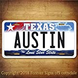 Austin Texas City/College Aluminum Vanity License Plate