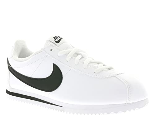 separation shoes 79cb1 023e0 Nike Youths Cortez White Black Leather Trainers 36 EU
