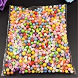 Brilliantllc Colorful Styrofoam Balls Beads-Decorative Ball Arts DIY Crafts Supplies For Homemade Slime Kid's Craft, Wedding and Party Decoration (one pack, Multicolor)