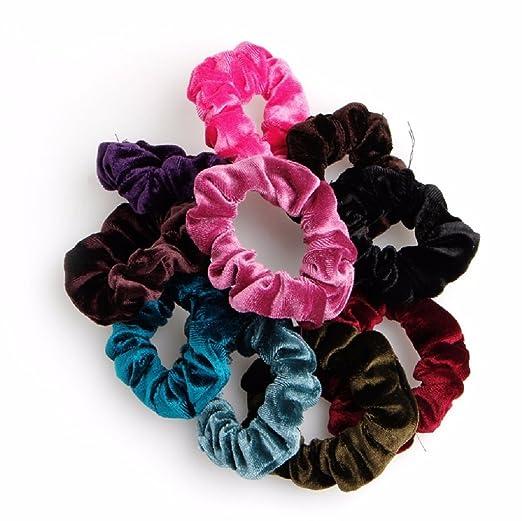 Zebra 10pcs Lovely Women s Velvet Hair Band Elastic Ponytail Tie Bow ... 1d4de5f11c7