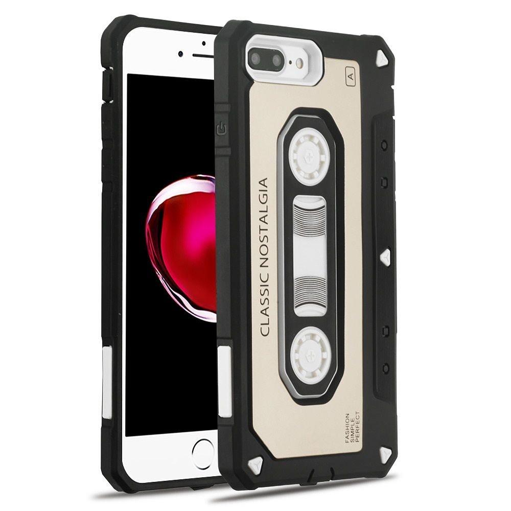 MYBATカセットデュアルレイヤ[衝撃吸収]保護ハイブリッドPC / TPUラバーケースカバーfor Apple iPhone 7 Plus / 8 Plus 2400318 B078MFM7NW ゴールド/ブラック  ゴールド/ブラック