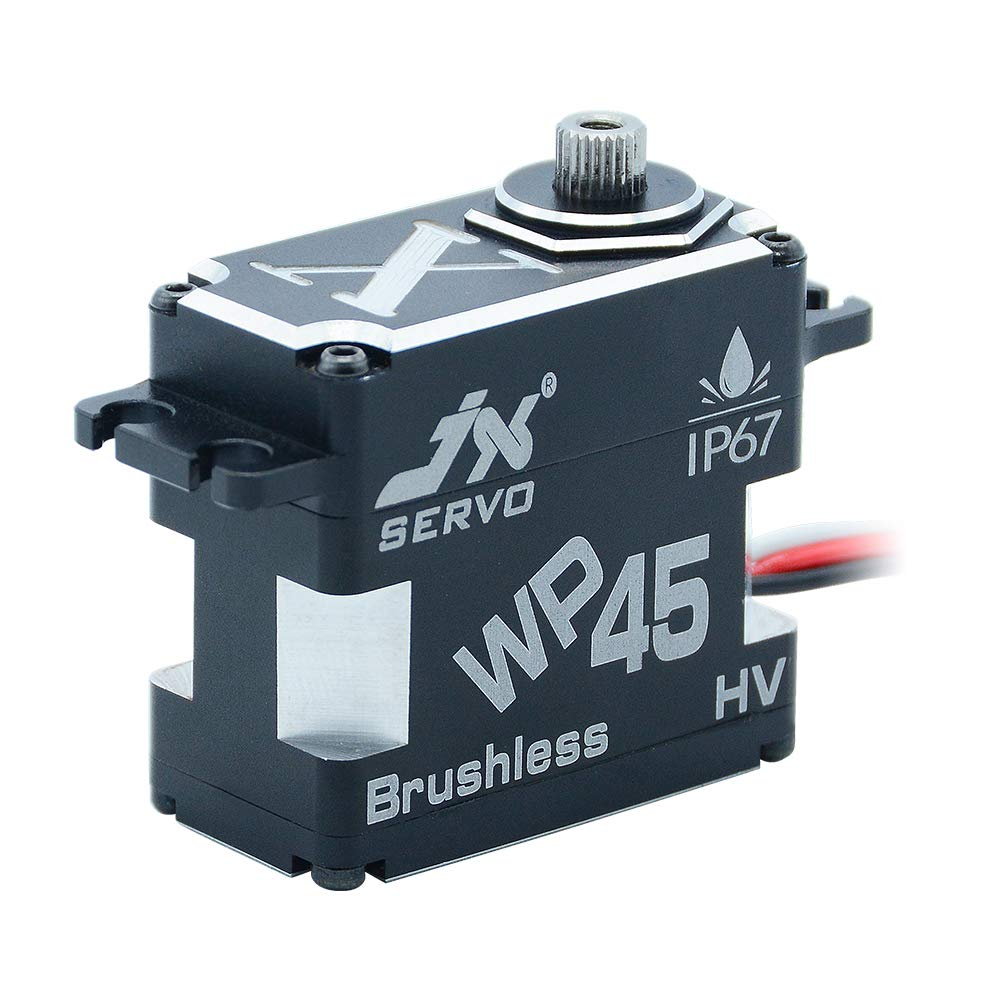 JX Servo WP45 45KG 8.4V 0.11sec IP67 Rated Waterproof Steel Gear Aluminum Coreless Servo for RC Car Truck Helicopter Robot SAVOX