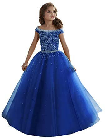 Amazon Nube Girls Pageant Colorful Dresses 0 12 Year Clothing