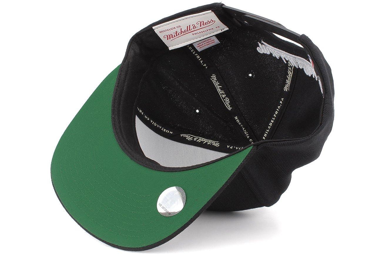 82d83d34 Amazon.com: Mitchell & Ness The Brooklyn Nets Standard Logo Snapback Cap in  Black: Clothing