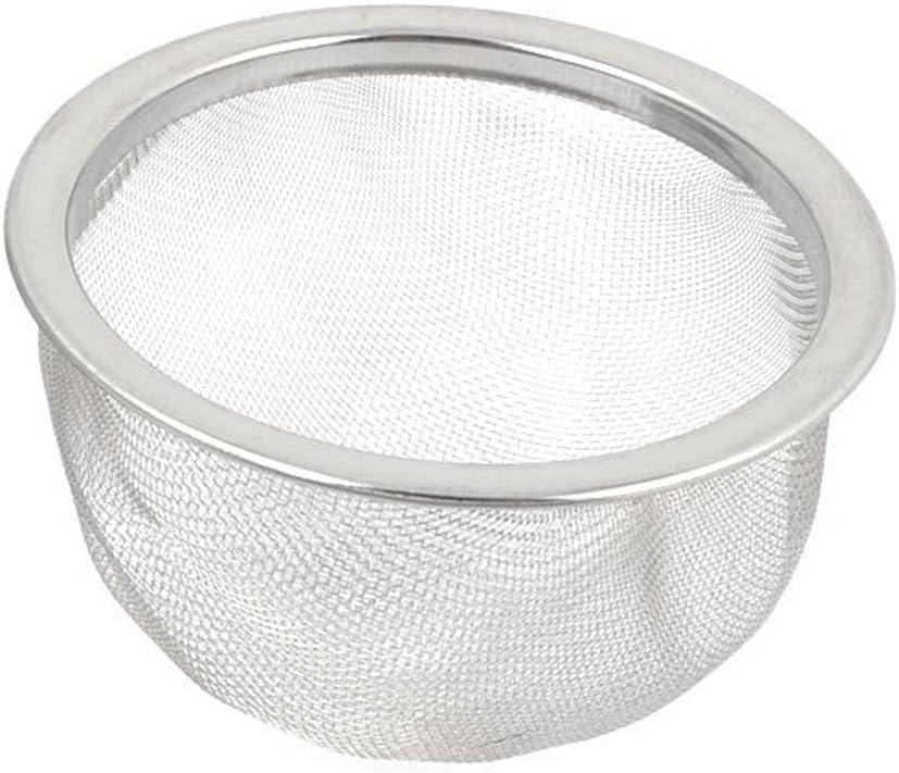 DULALA Coladores Coladores de Bolas de t/é 4pcs Malla Redonda de Acero Inoxidable Reutilizable Hoja de t/é Especia Tetera Filtro Colador 80 mm de di/ámetro