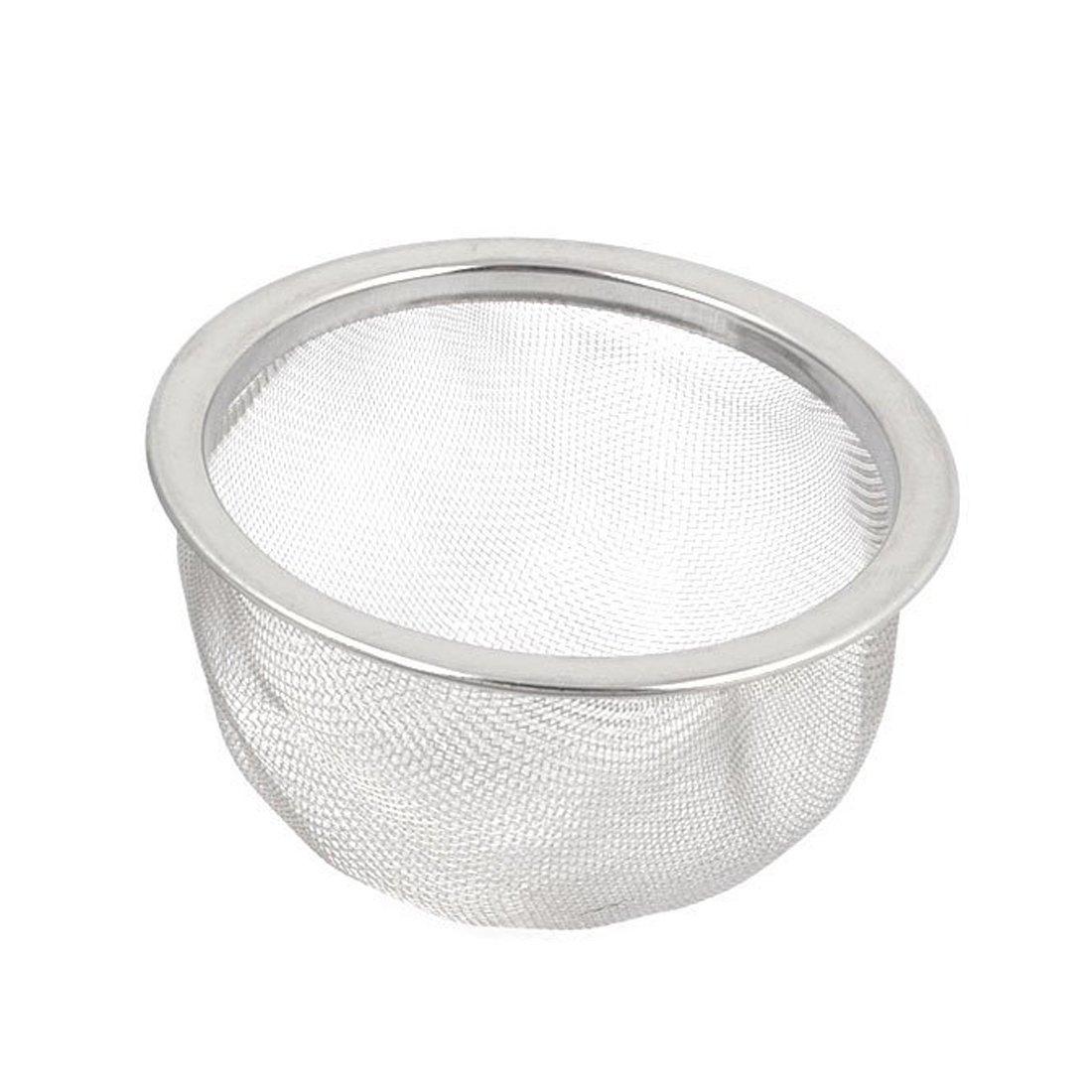 Passoire a the SODIAL 2 pieces Draineur de maille passoire a the en acier inoxydable filtre de theiere argent R