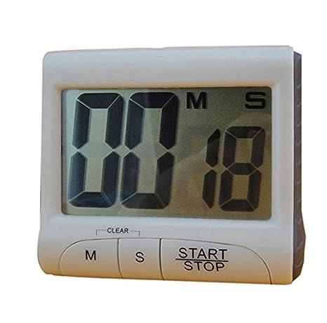 DaoRier 1pc Reloj de Cocina Temporizador Digital Cronómetro Corto Tiempo – Cuentaminutos Temporizador Cronómetro Temporizador Tiempo