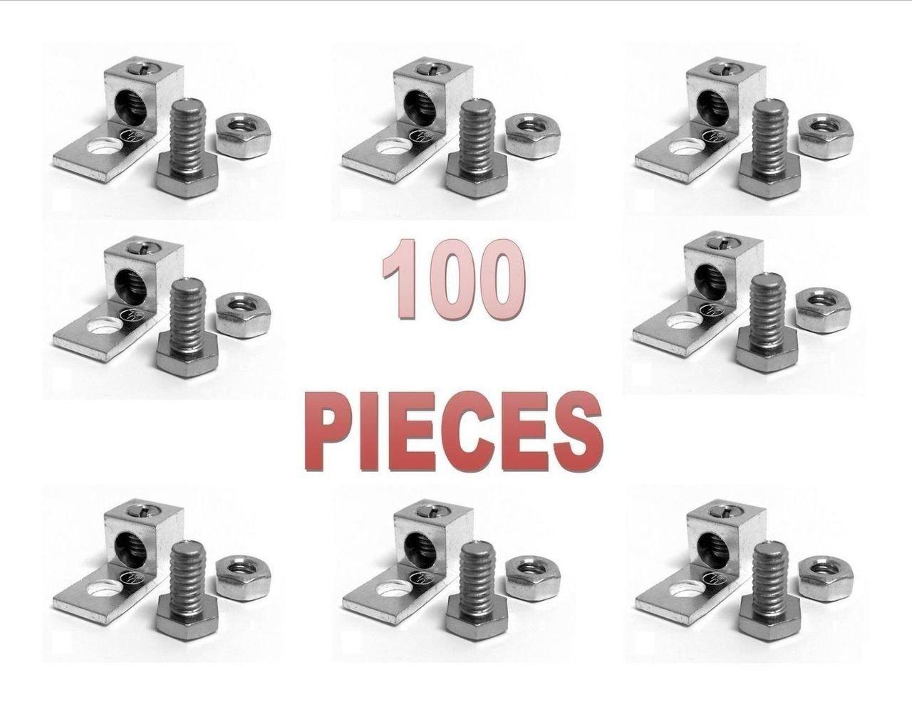 100 Pieces P10 Single Aluminum Ground Lug Block Direct TV Satellite UL Listed