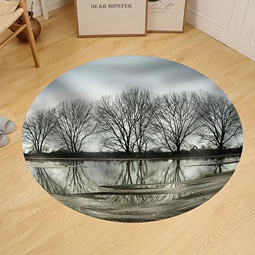 Gzhihine Custom round floor mat Tree Reflection in a Pond Vancouver Bc - In Vancouver Outlets