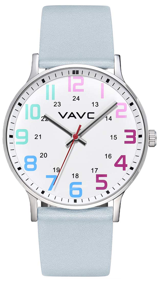 VAVC Nurse Watch for Medical Students Doctors Women with Second Hand and 24 Hour. Easy to Read Watch