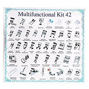 Universal Sewing Machine Presser Walking Feet Kit - OEM Suitable for Babylock Janome Brother Home Singer Kenmore Simplicity Elna Toyota Necchi from Ankoow