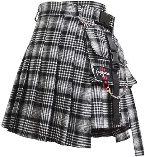 HAHAQZ Falda,Pantalones De Cintura Gris Falda Niña Duro Japón ...