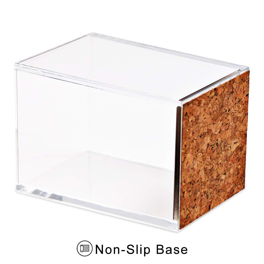 camera da letto 8 * 7.7 * 11cm Clear Coideal Portapenne quadrato casa scrivania per ufficio Gold