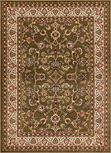 Well Woven Barclay Sarouk Green Traditional Area Rug 5'3