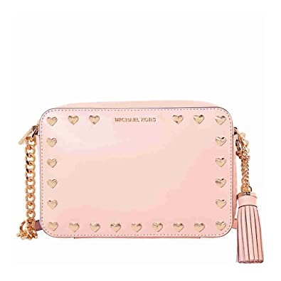 dcbb82ea11d1 MICHAEL KORS Women's accessories Ginny Soft Pink hearts Crossbody Bag  Spring Summer 2018