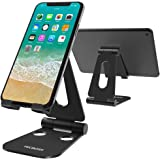Tecboss Foldable Tablet Stand,Cell Phone Stand Multi-Angle Adjustable Stand for Nintendo Switch, iPad, iPhone X 8 7 Plus, Galaxy S8, Nexus All 3.5-13 inch - Black