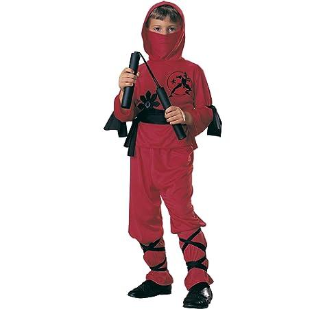 Rubies - Disfraz de ninja para niños, color rojo, 8-10 años ...
