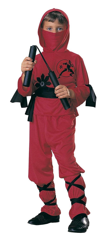 Rubies - Disfraz de ninja para niños, color rojo, 5-7 años (12110-M)